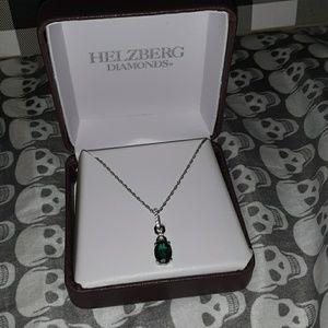 Hellzberg Diamond Emerald Necklace